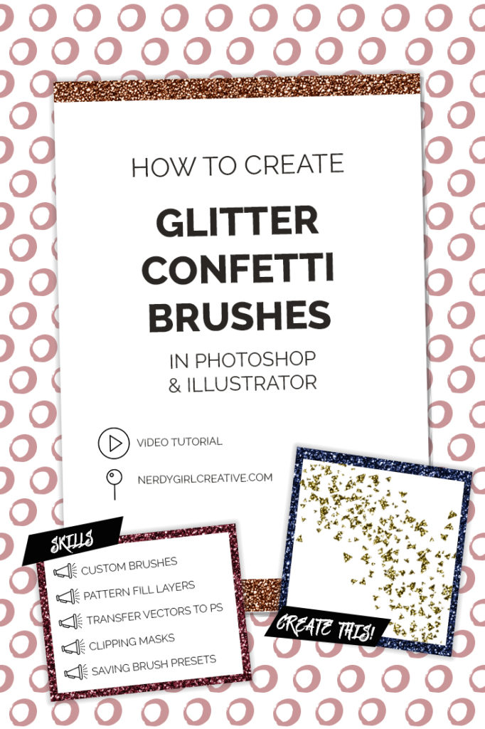 glitter confetti brushes tutorial information
